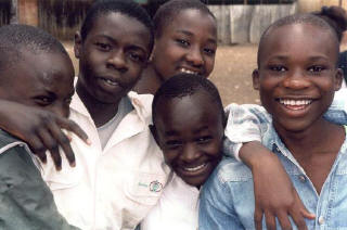 A Group of Baba Dogo children